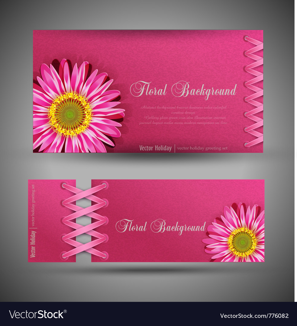 Flowers template design element vector
