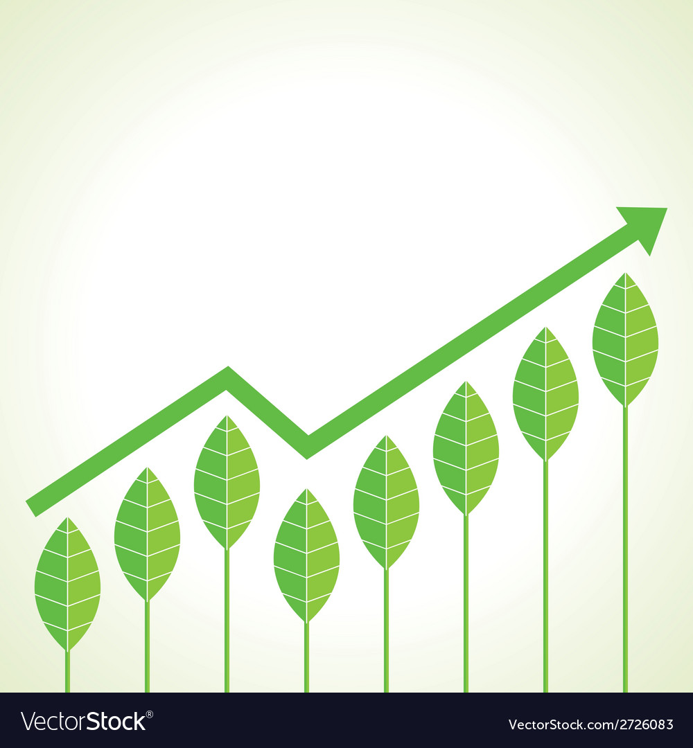Agriculture business growth graph concept vector