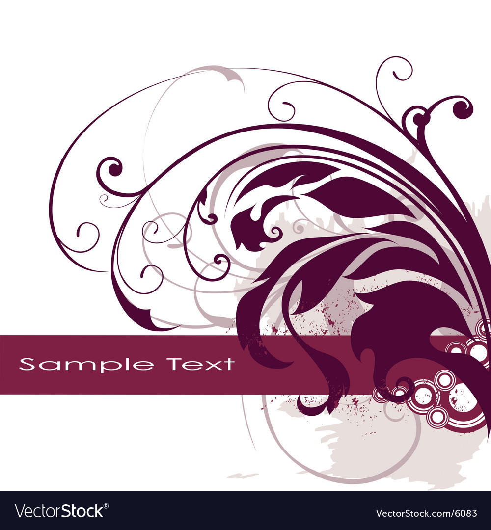 Floral edge frame design vector