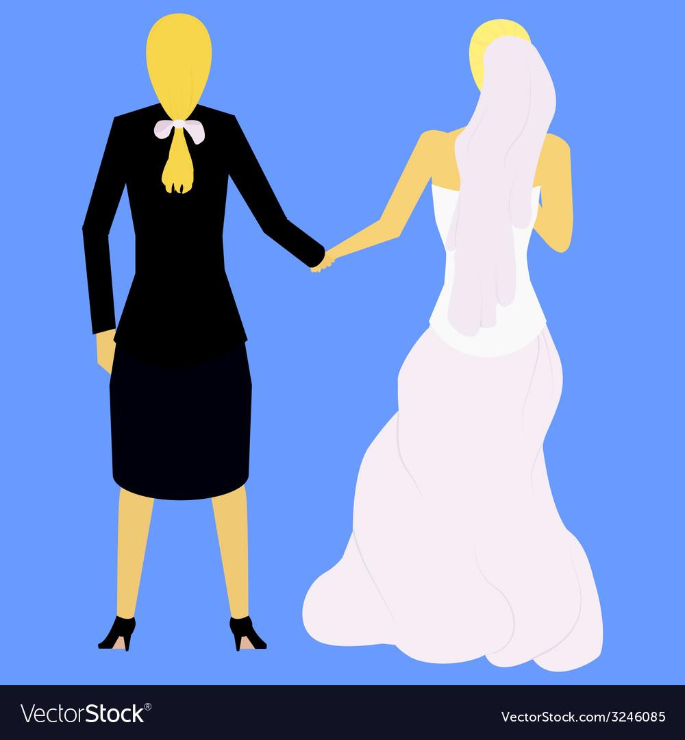 Couple of lesbians vector