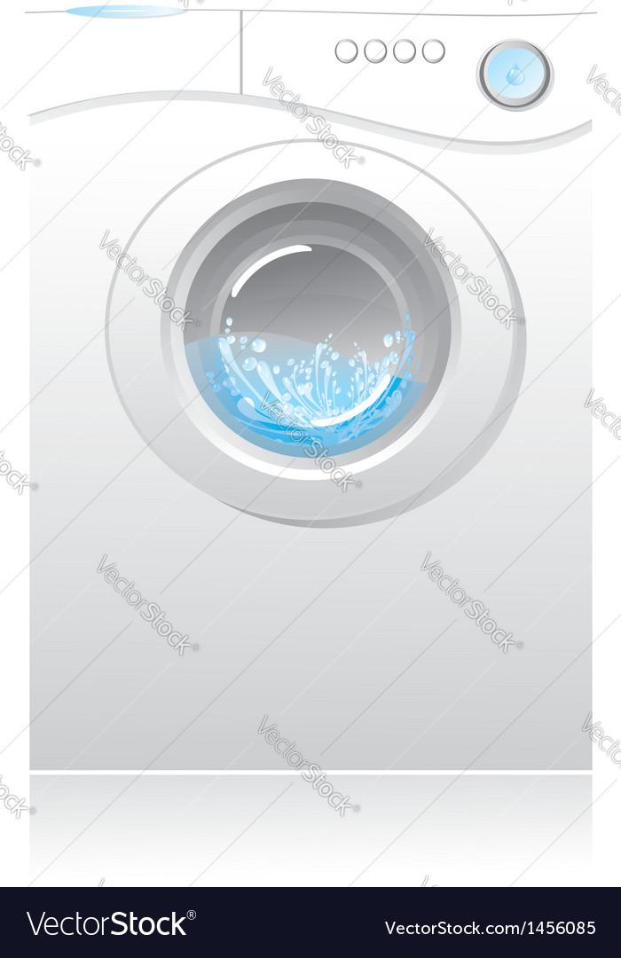 White washing machin vector