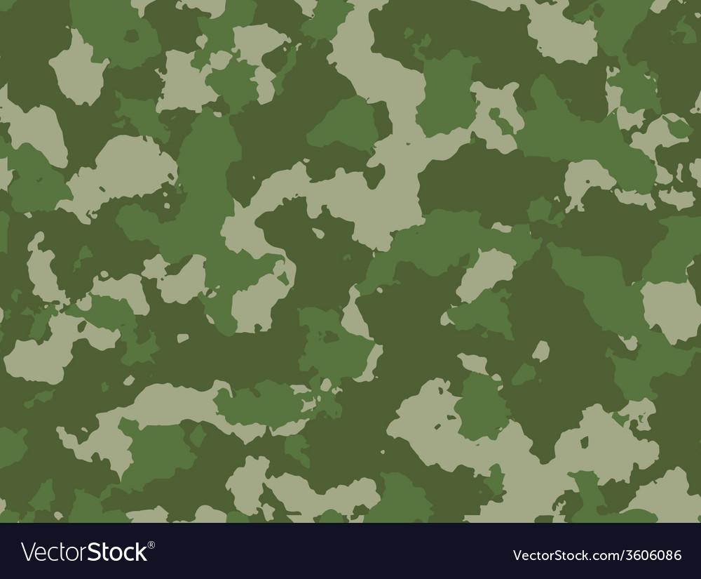 Seamless woodland camo pattern vector