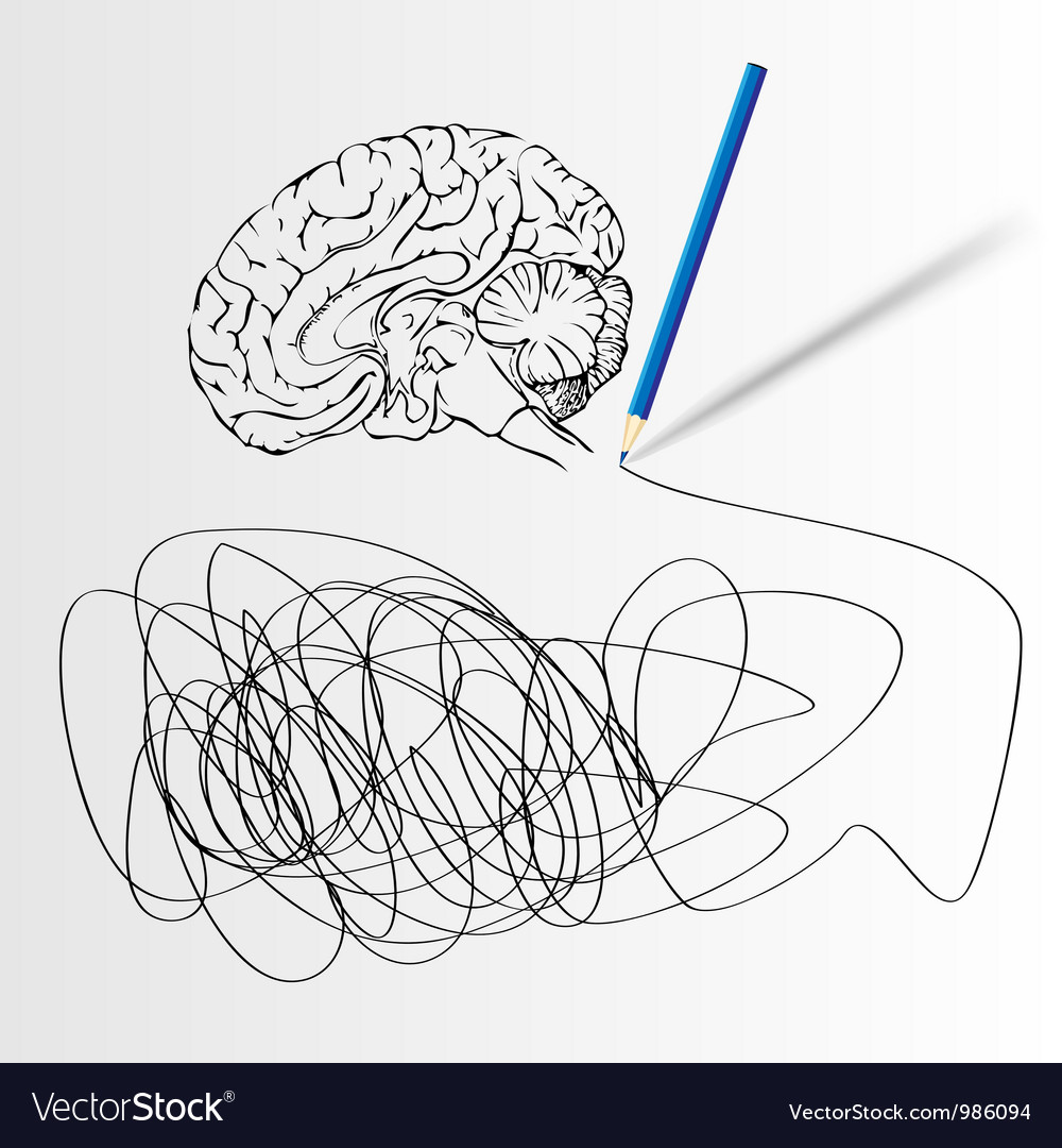 Abstract science background with brain vector
