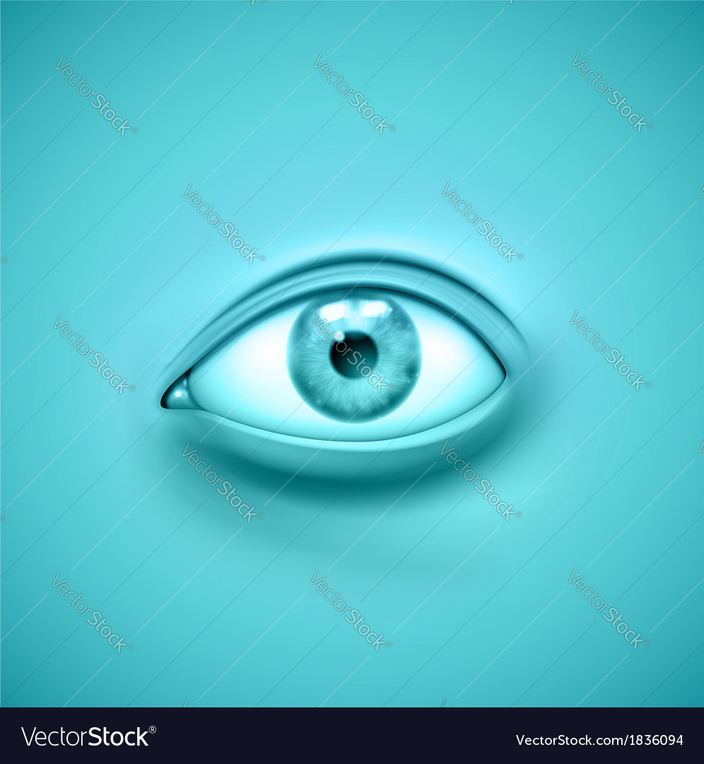 Background with eye vector