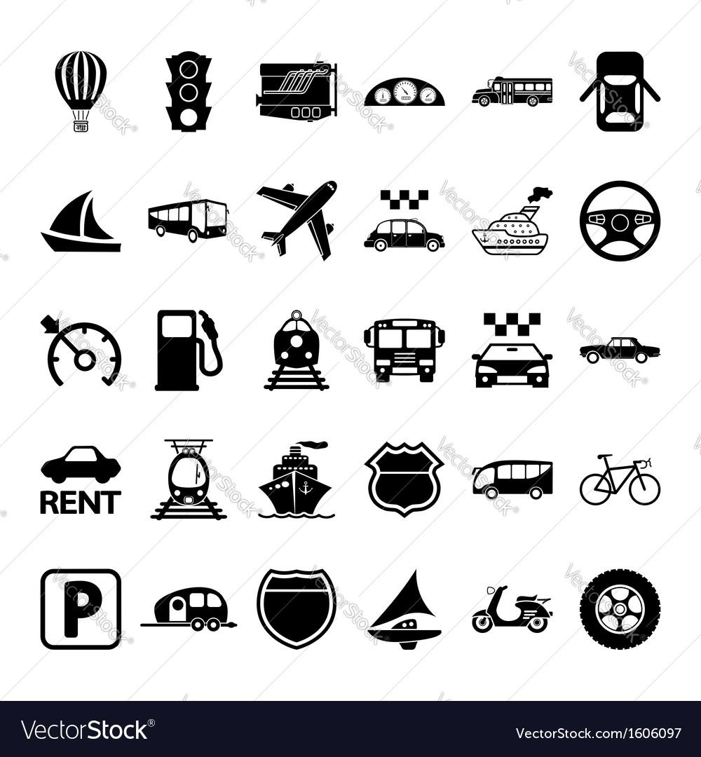 Transportation icon set vector