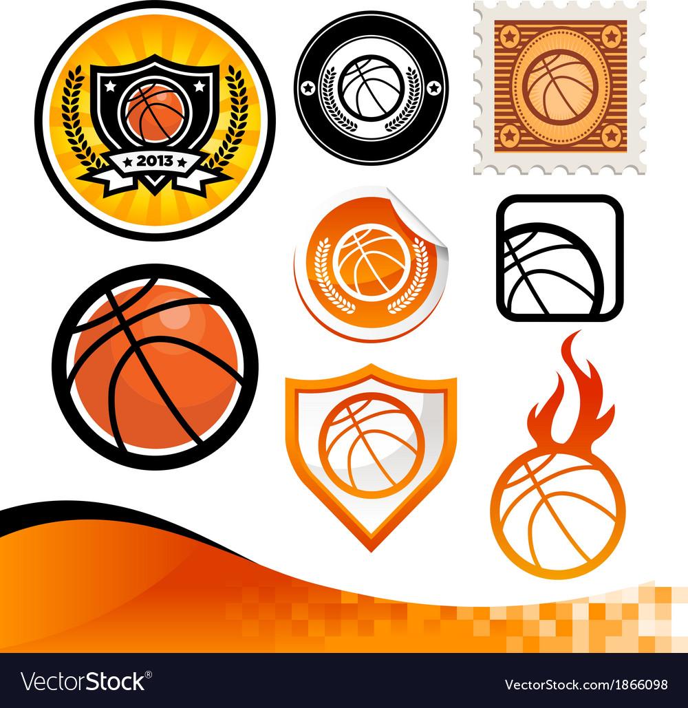 Basketball design kit vector