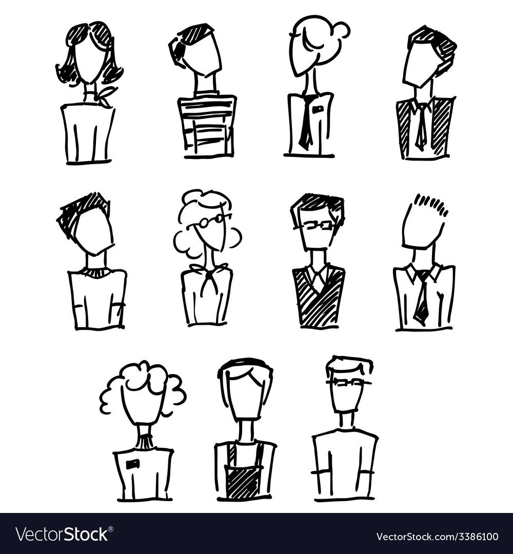 Doodle avatar vector