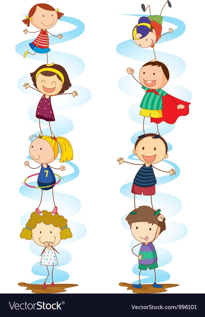 Cartoon kids activities vector