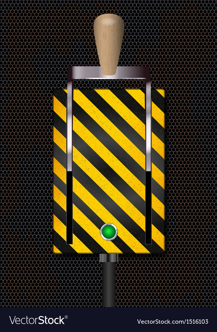 Switch on-off on rusty metal background vector