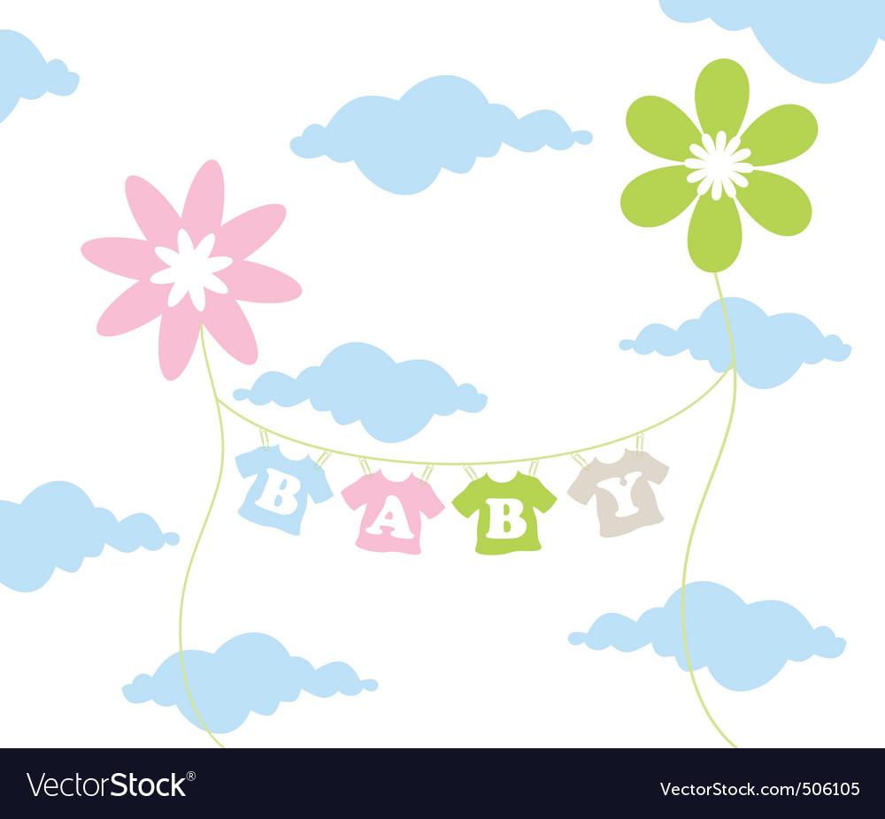 Children flower vector