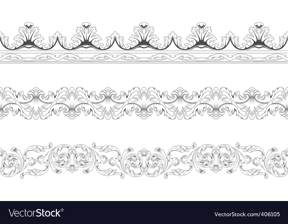Ornamental borders vector
