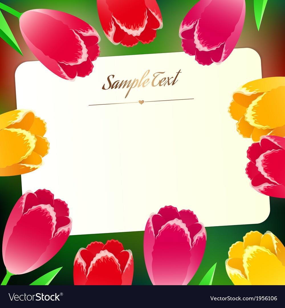 Beautiful horizontal rectangular greating card vector