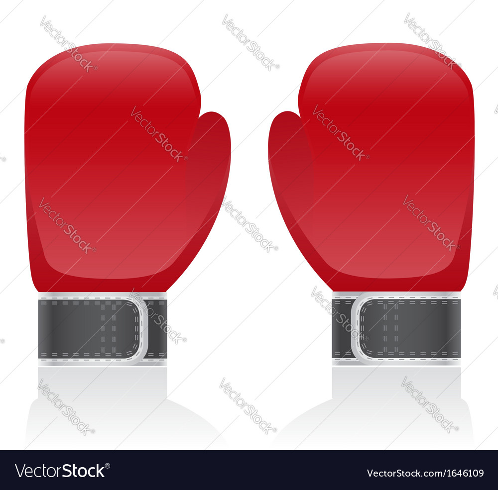 Boxing gloves 01 vector