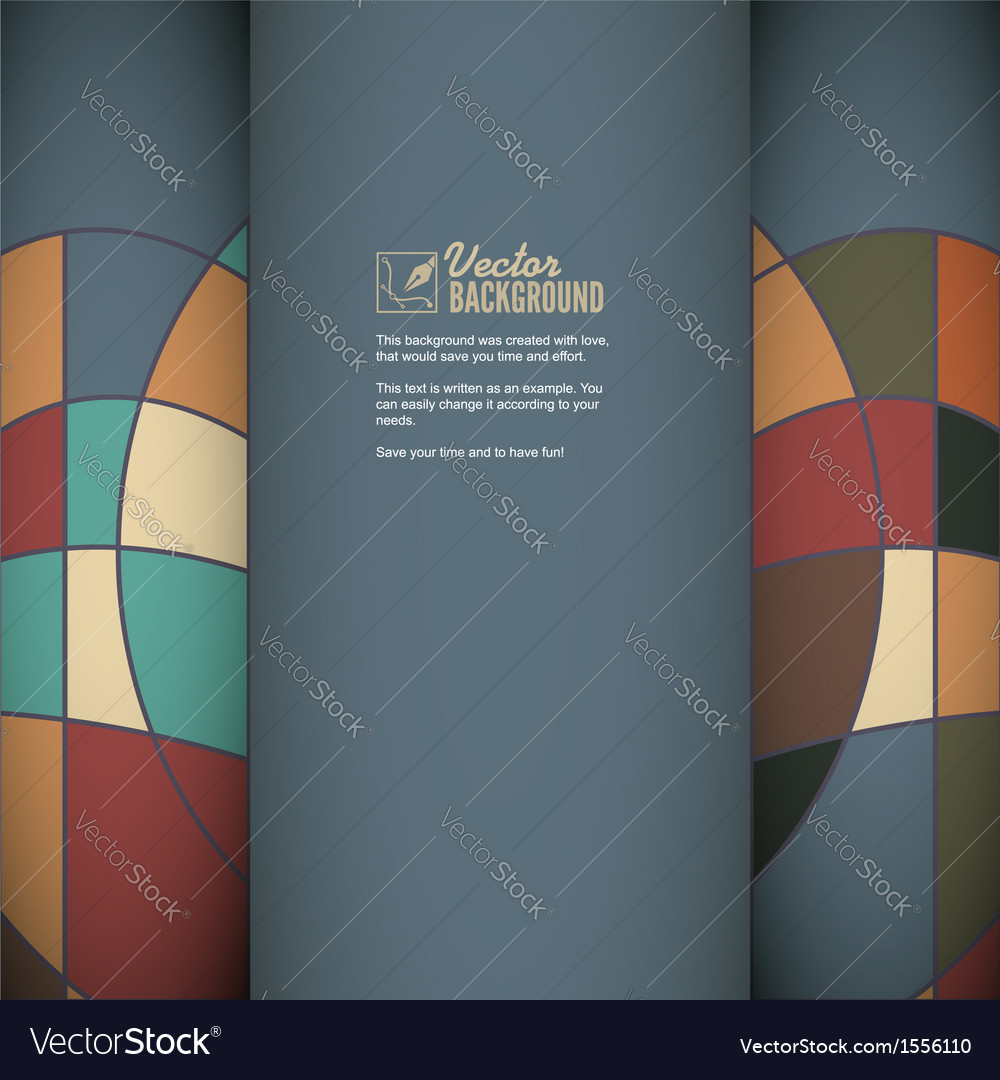 Greeting card invitation with ornaments vector