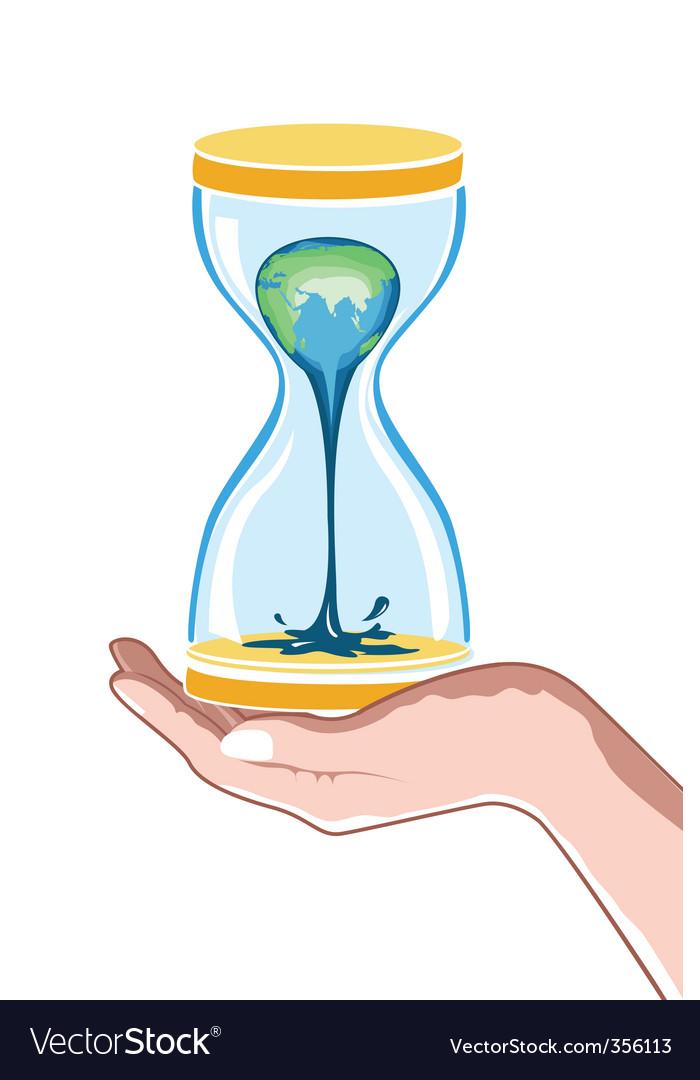 Hour watch in hand vector