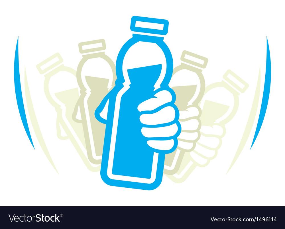 Shake bottle vector
