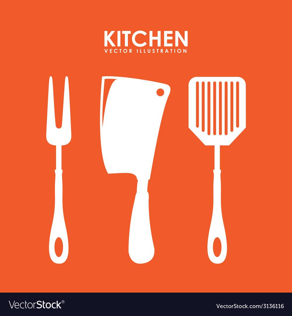 Cutlery menu design vector