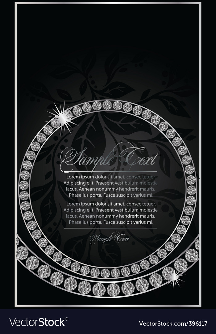 Diamond ring design vector