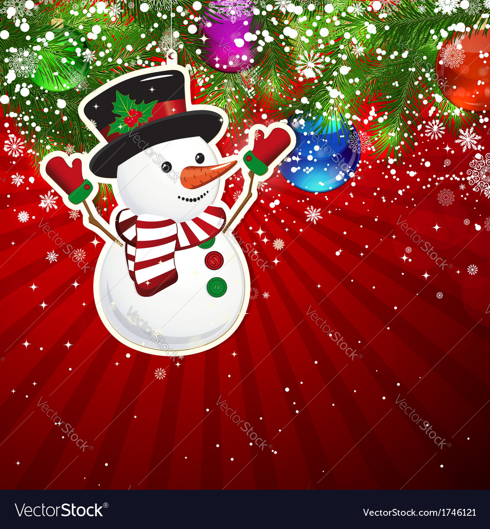 Background with christmas decoration and vector
