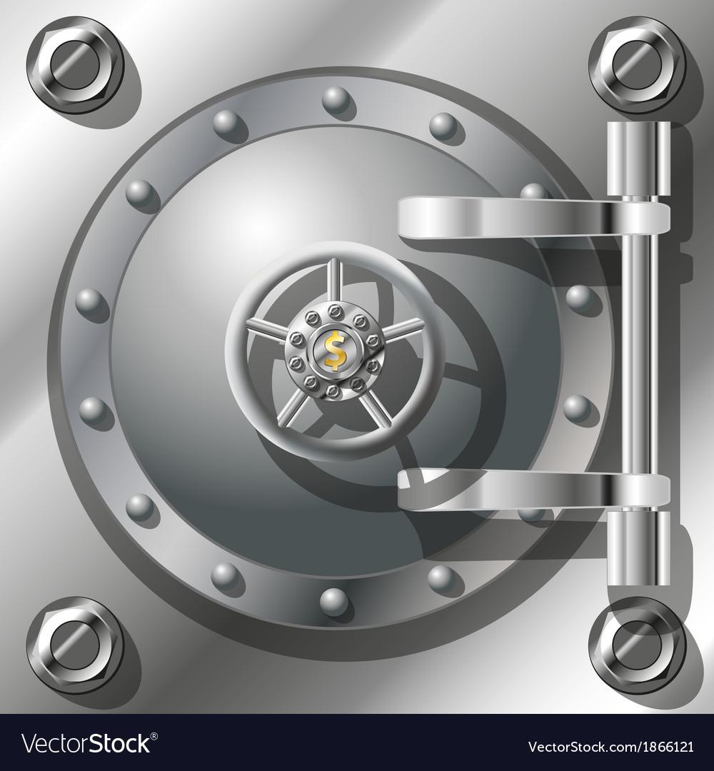 Bank vault door vector