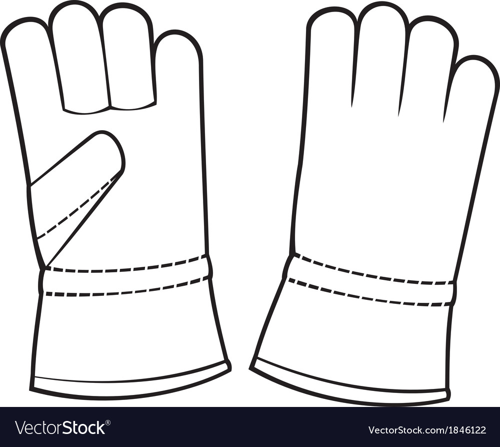 Leather gloves vector