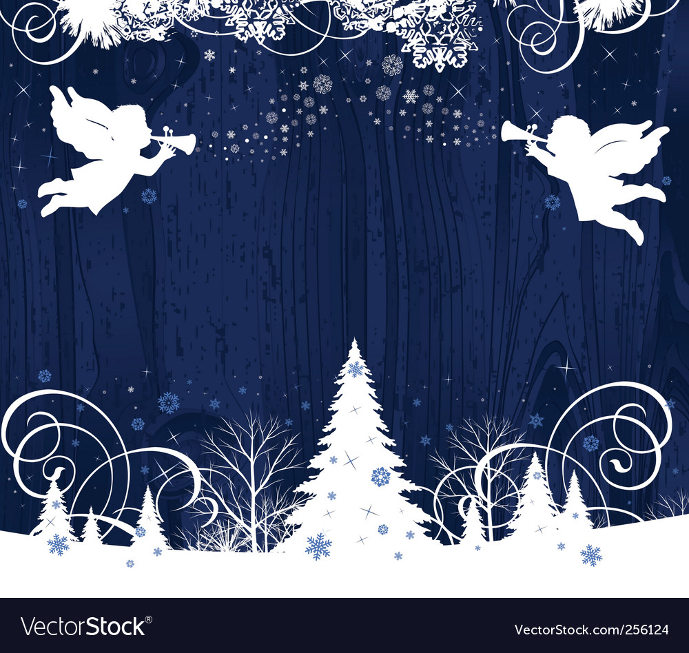 Christmas angels vector