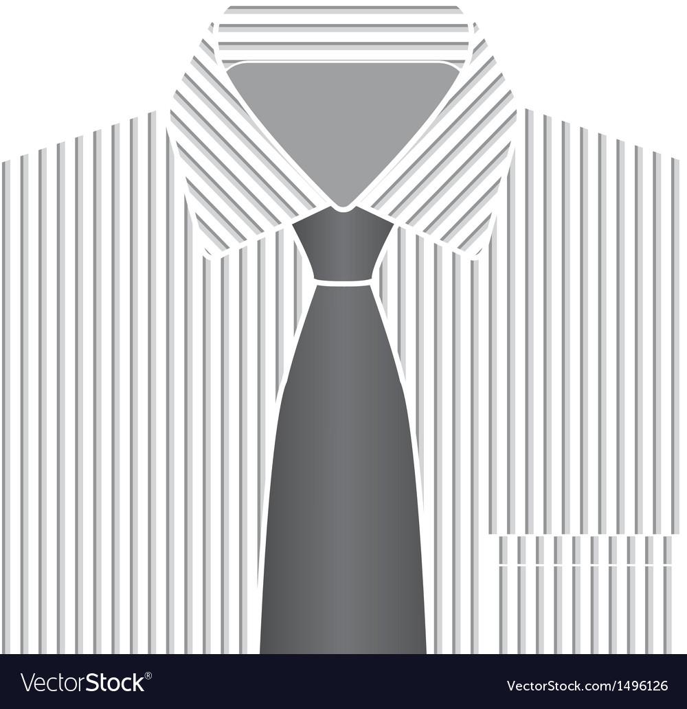 Grey tone shirt and tie vector