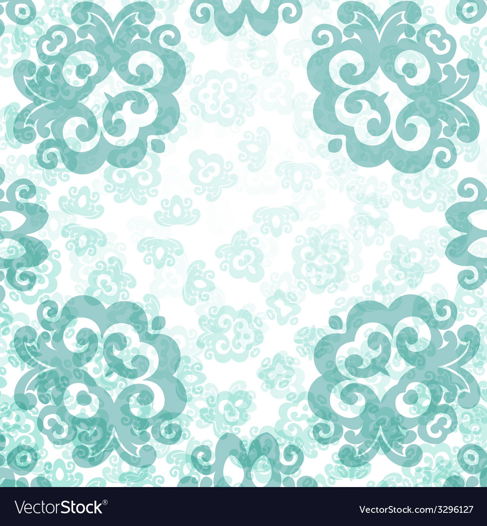 Damask card template vector