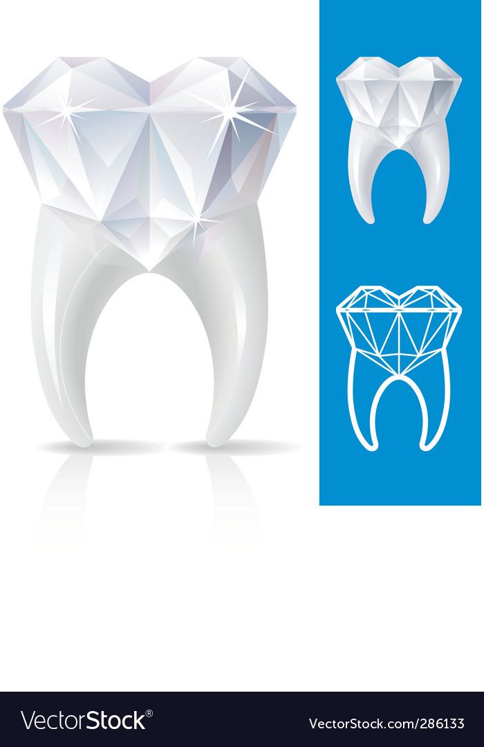 Teeth strong as diamond vector