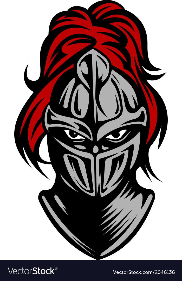 Medieval dark knight vector