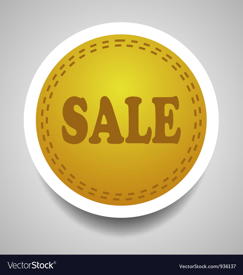 Sale stitched label vector