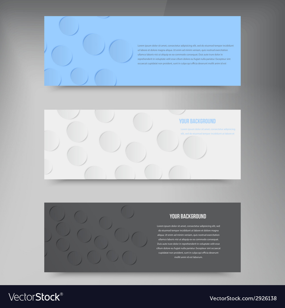 Paper template banner white note vector