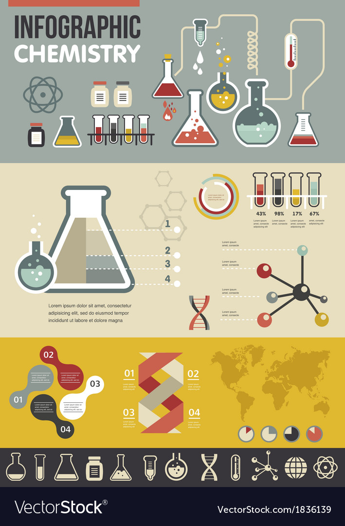 Chemistry infographic vector