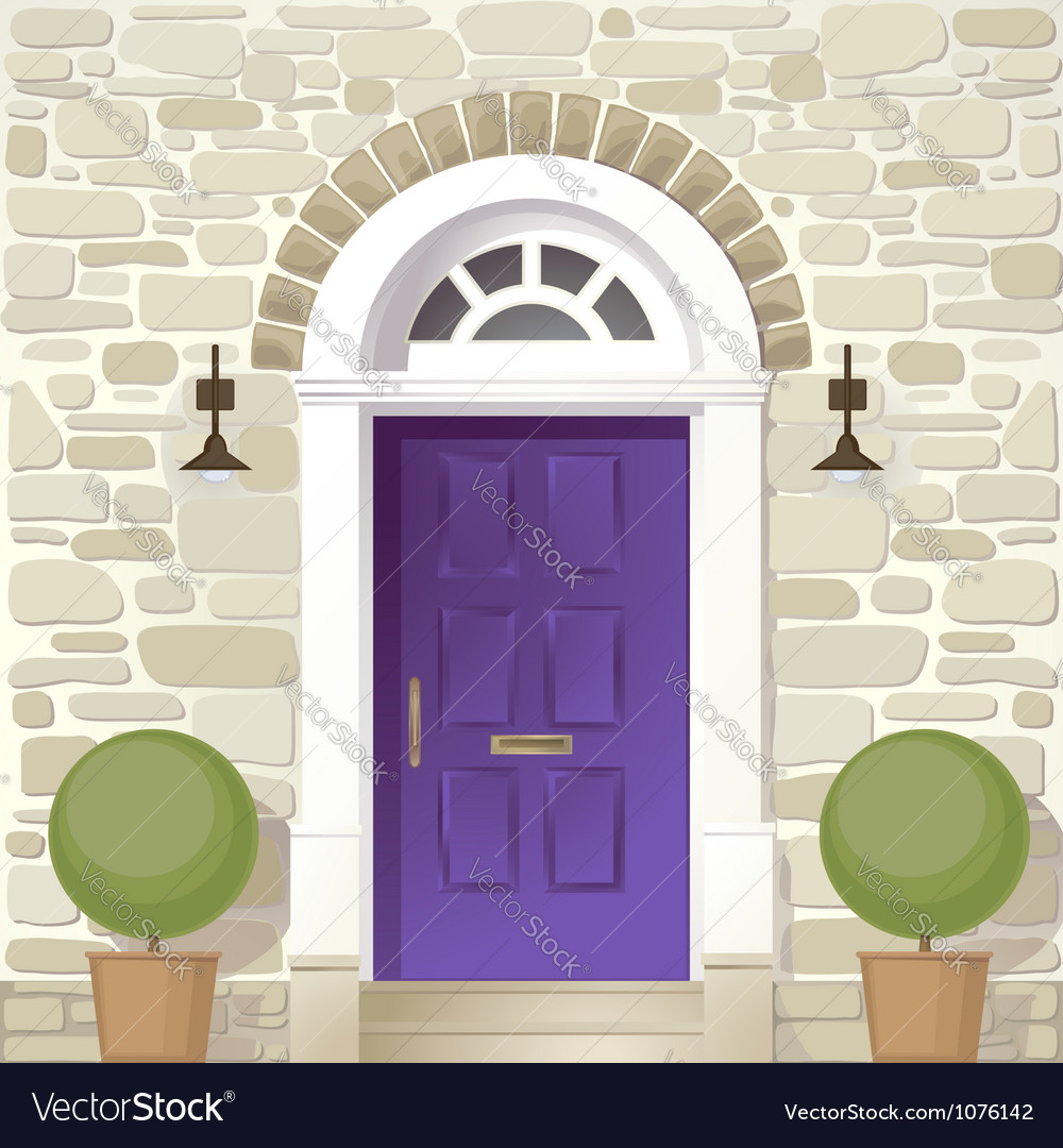 Entrance of house vector