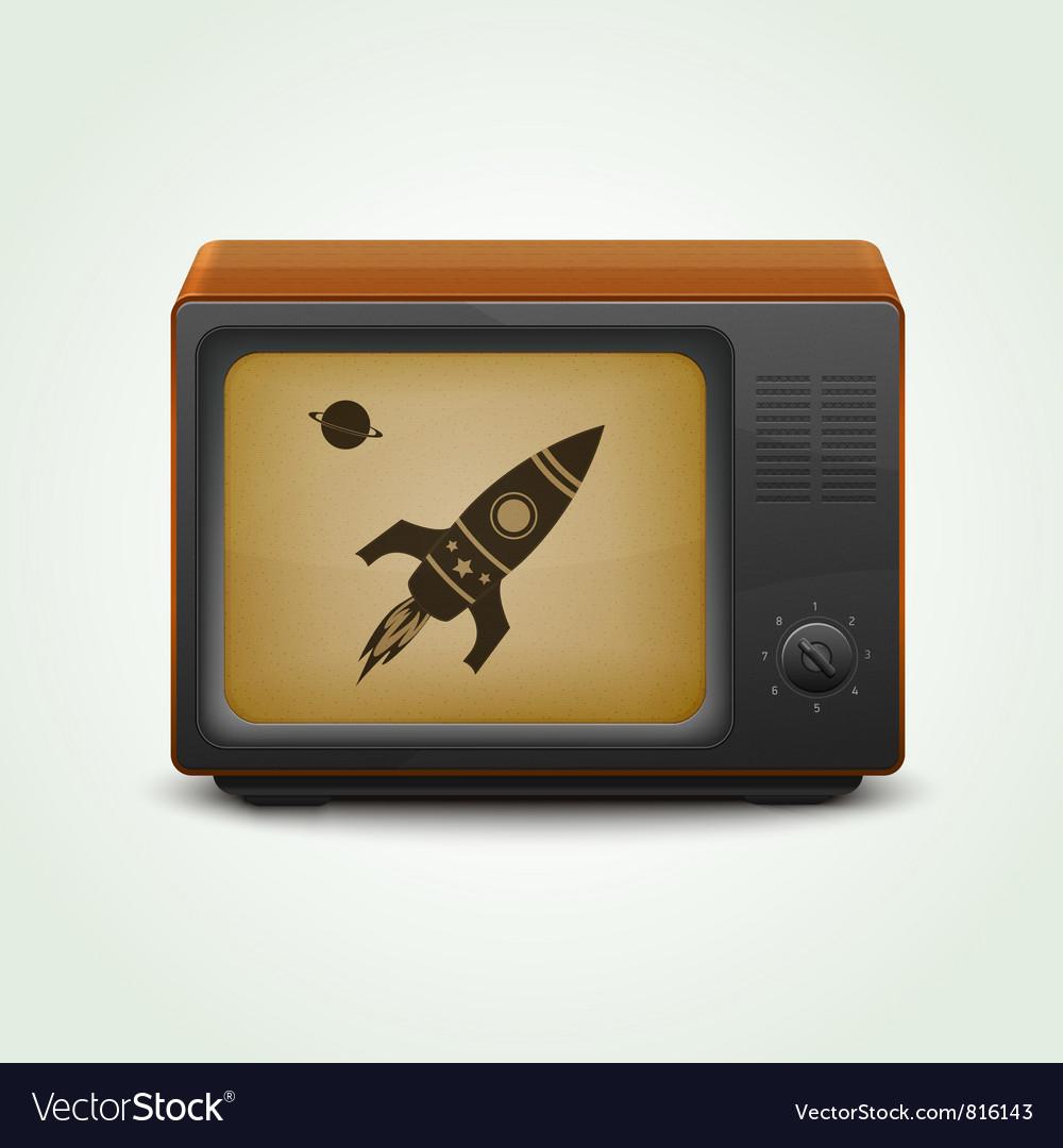 Realistic retro tv vector