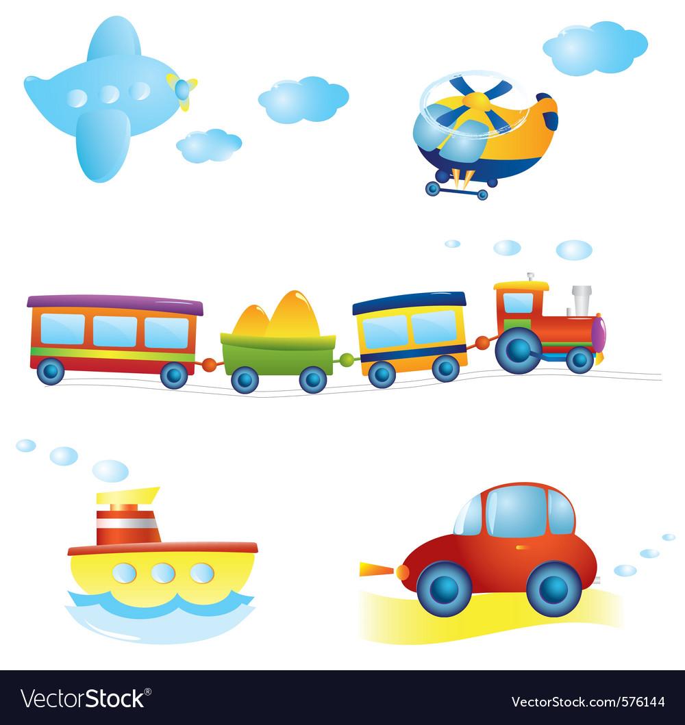 Cartoon transport vector