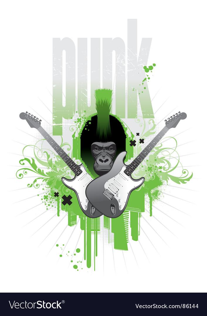 Punk gorilla vector