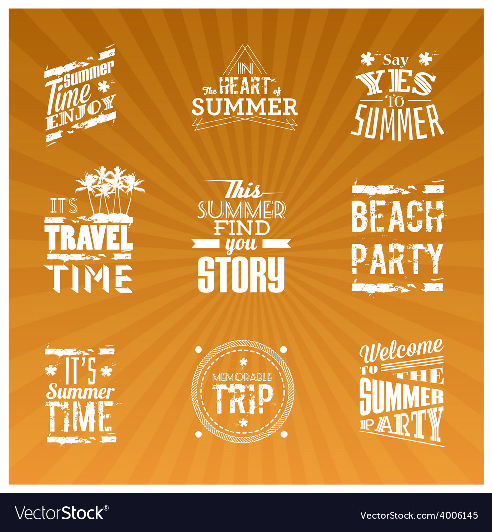 Set of summer logotype vector