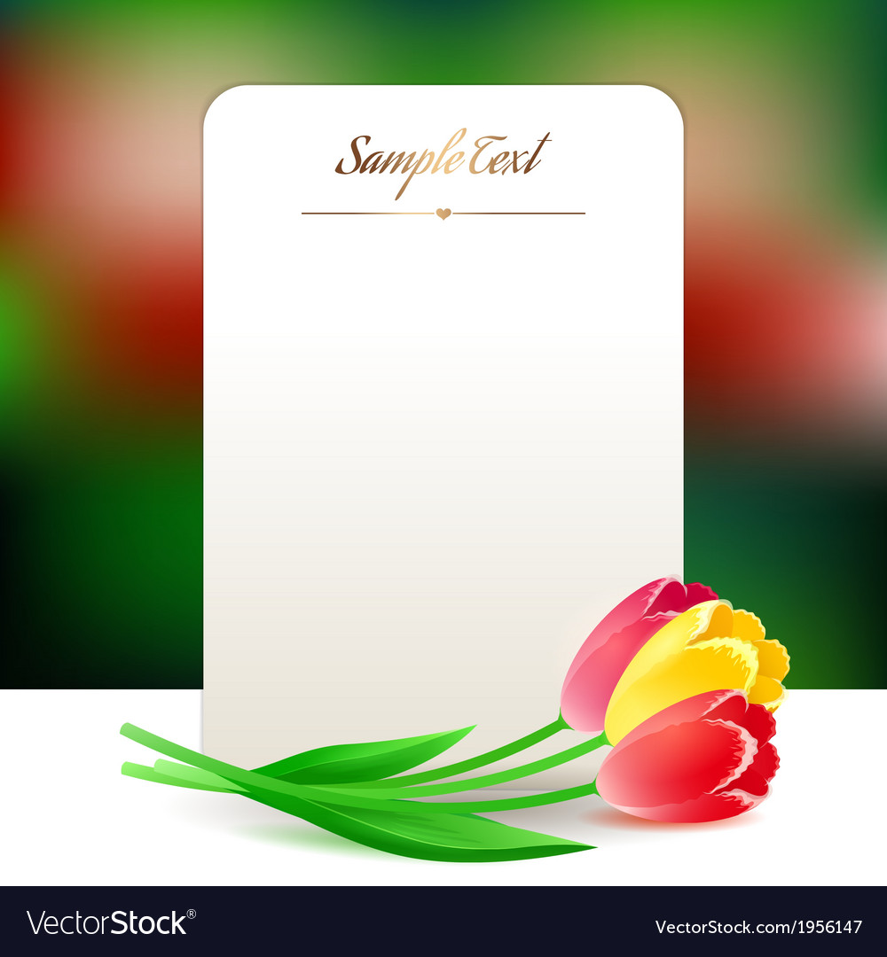 Beautiful vertical small rectangular greating card vector