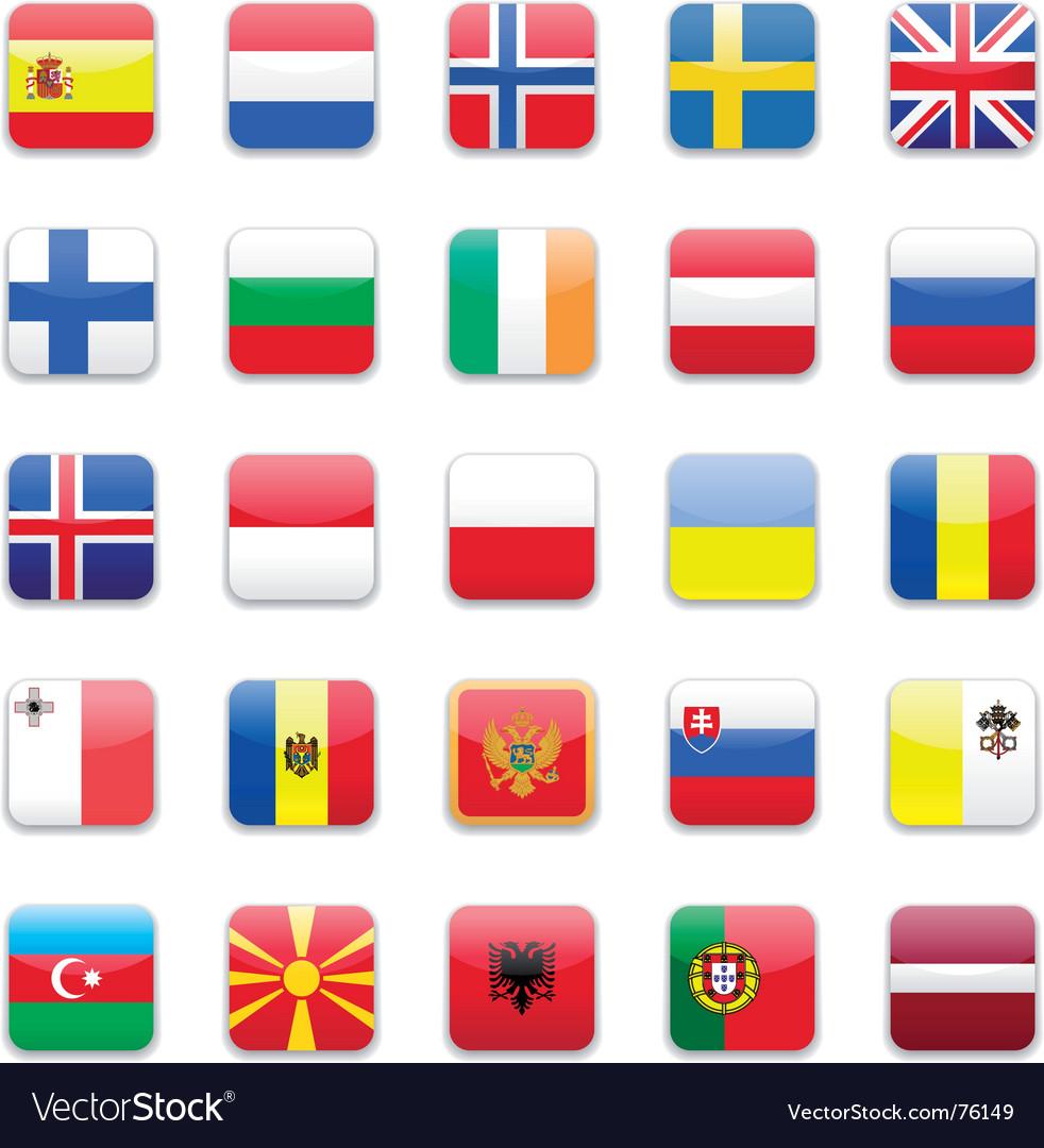 Europe flag a vector