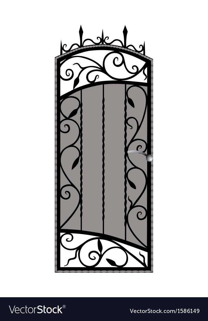 Forged door vector