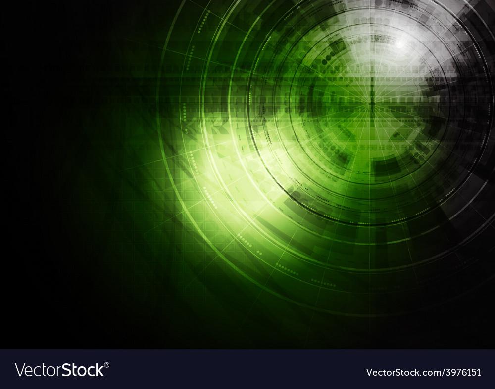 Dark green technology background vector