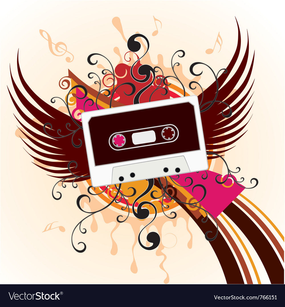 Music in the sky vector