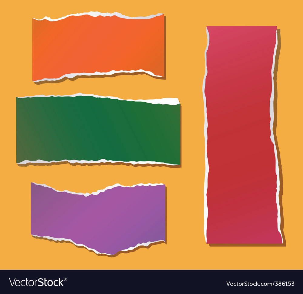 Paper fragments vector