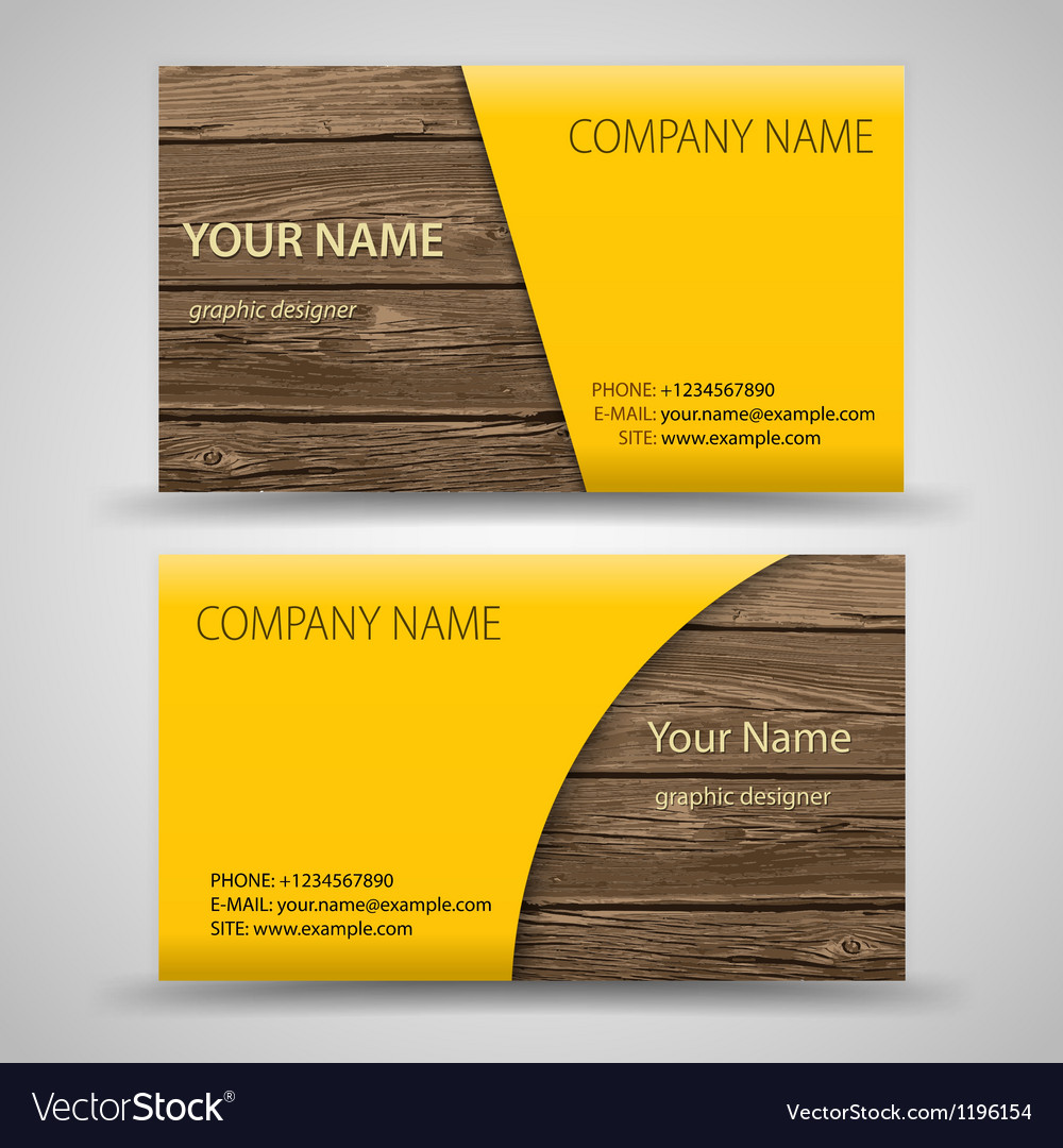 Abstract creative business cards set template vector