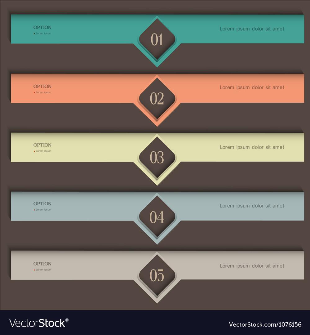 Creative colored design template vector