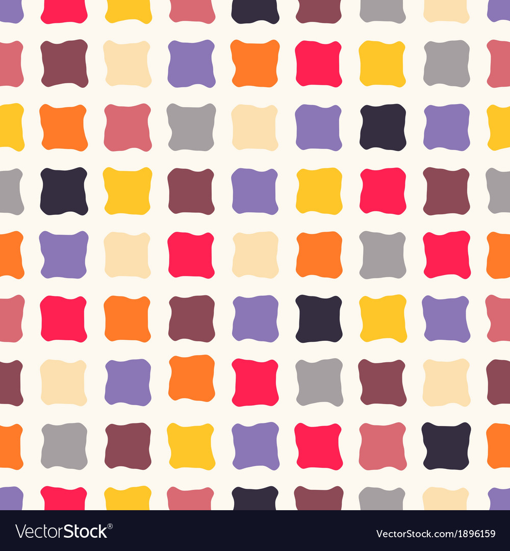 Abstract seamless pattern with colorful squares vector