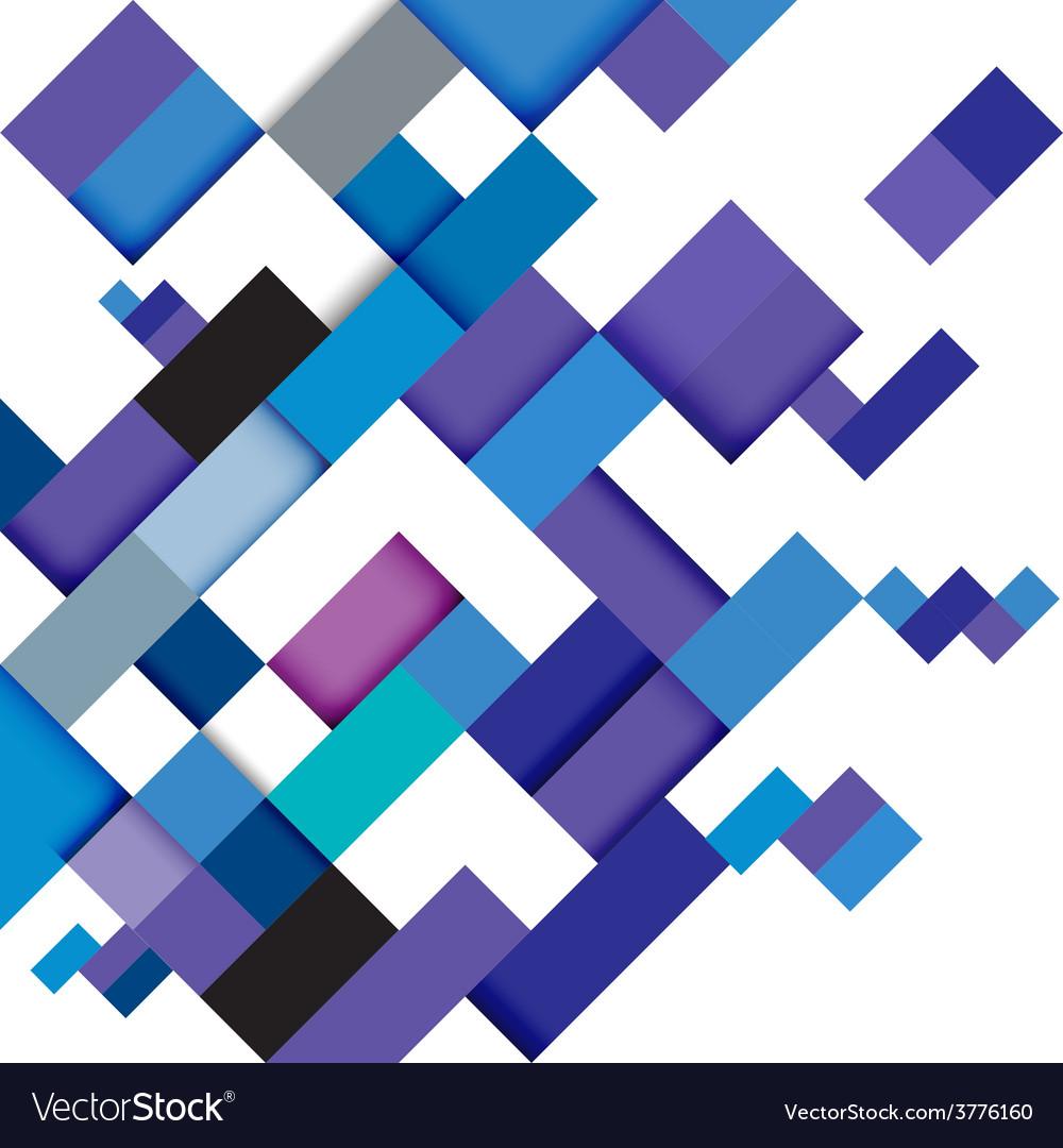 Abstract blue modern geometric template vector