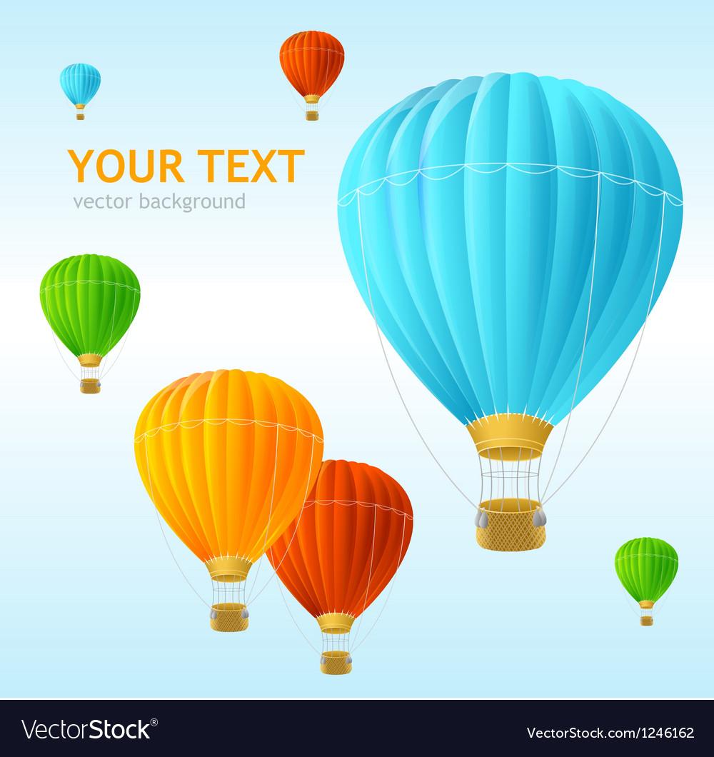 Air ballons background vector