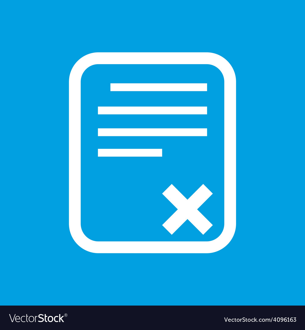 Bad document white icon vector